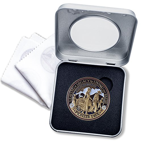 (Pioneer Trek Challenge Coin Deluxe Presentation Display Tin Box with bonus polishing cloth)