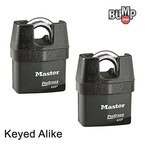 Master Lock Pro Series Padlock - (2) High Security Locks 6327NKA-2 w/ BumpStop Technology