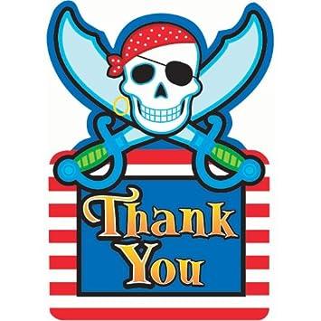 Amazon.com: Partido Pirata Tarjetas de agradecimiento – 8 ...