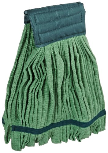 Impact LF0006 Microfiber Tube Wet Mop with Canvas Headband, Large, Green (Case of 12)