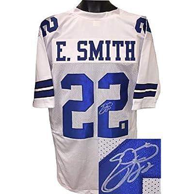 Signed Emmitt Smith Jersey - White Custom Stitched Pro Style Hologram -  Autographed NFL Jerseys 31860cd79
