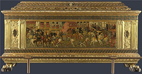 'Italian Florentine Cassone With A Tournament Scene (1) ' Oil Painting, 18 X 34 Inch / 46 X 88 Cm ,printed On Perfect Effect Canvas ,this Replica Art DecorativeCanvas Prints Is Perfectly Suitalbe For Bedroom Decoration And Home Artwork And Gifts ()