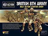 Bolt Action British 8th Army Western Desert Starter Army Pack 1:56 WWII Military Wargaming Plastic Model Kits