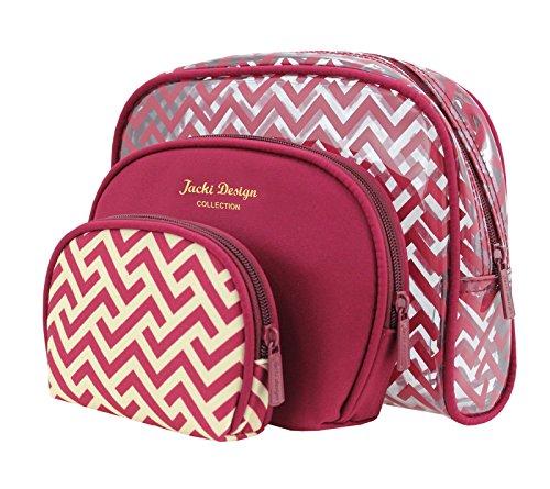 jacki-design-contour-3-piece-cosmetic-bag-set-red