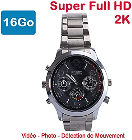 Cyber Express Electronics–Reloj Mini cámara espía 16GB 2K Super Full HD 2304x 1296P detección de Movimiento cel-dwf-74s-16