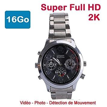 Cyber Express Electronics - Reloj Mini cámara espía 16 GB 2 K Super Full HD 2304 x 1296P detección de Movimiento cel-dwf-74s-16: Amazon.es: Electrónica