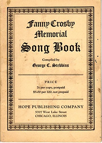 Fanny Crosby Memorial Song Book