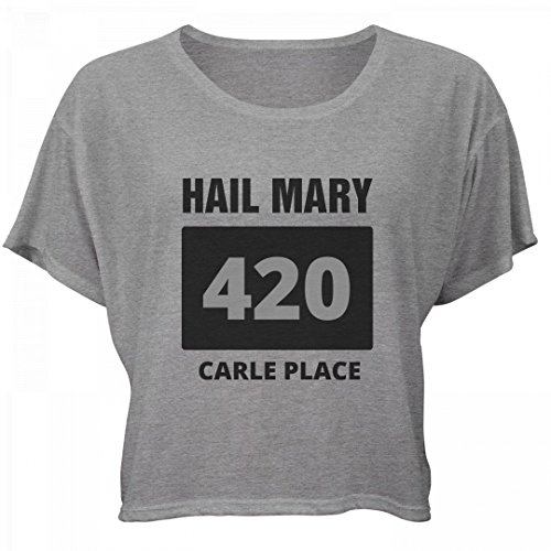 Happy 420 Hail Mary Carle Place: Bella Women's Flowy Boxy Tee (Party City Carle Place)
