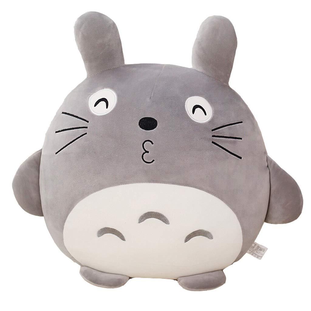 Zhijie-wanju Lindo Totoro Felpa Muñeca Jumbo Gigante Animales de Peluche Suave Muñeca de Juguete Almohada Cojín decoración del hogar y Regalo de cumpleaños de Vacaciones H60cm Gris