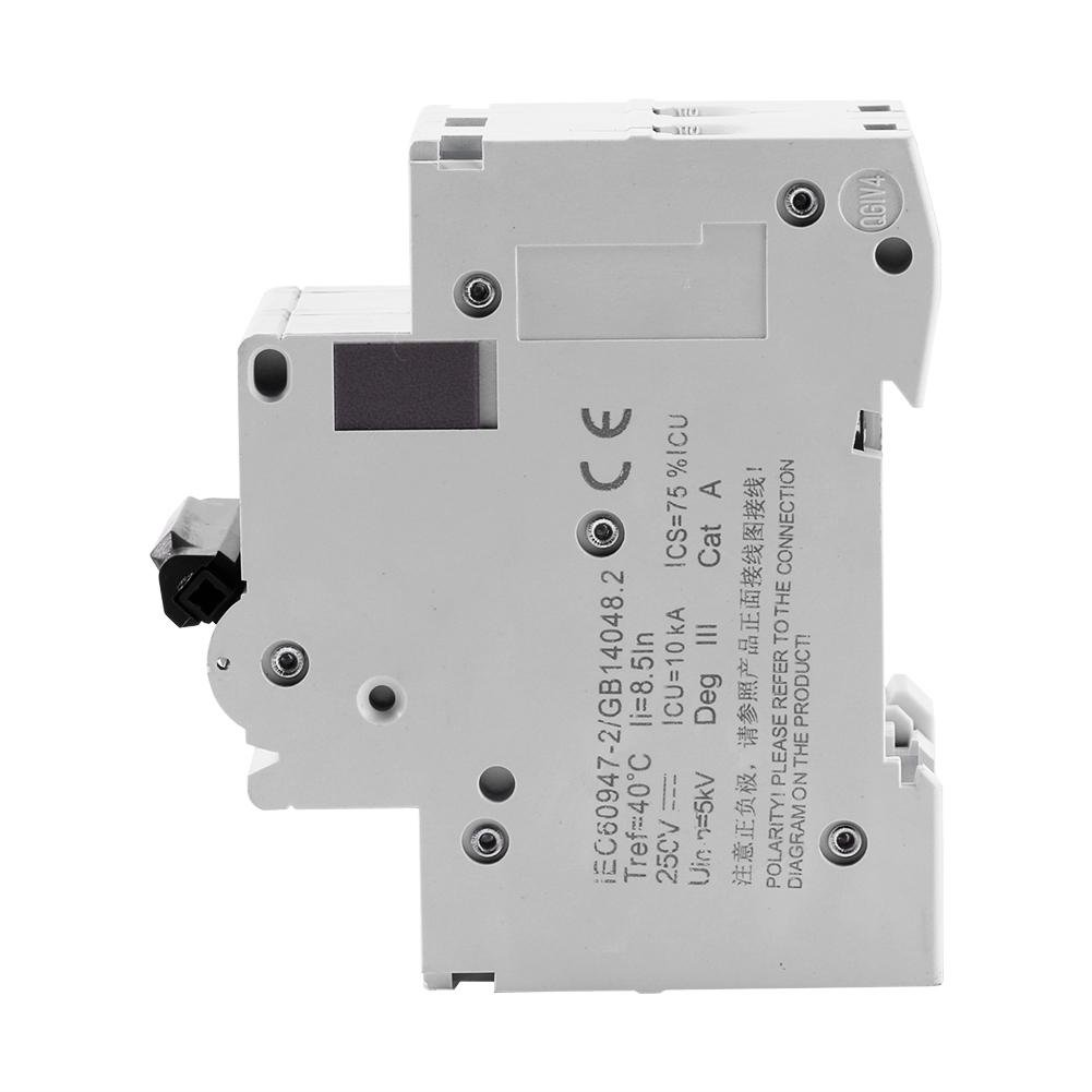 16A Seguridad 1pc 25 V DC 2P Interruptor de circuito de aire en miniatura de bajo voltaje Interruptor de energ/ía solar 16A//32A//63A