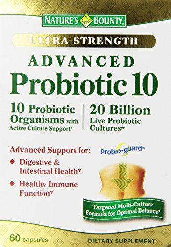 Bounty Ultra Probiotic 10, 60 comte de la nature