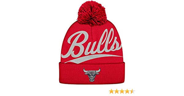 australia amazon nba mitchell ness greyton script cuffed pom beanie knit  hat chicago bulls sports outdoors fc7fff5083fe