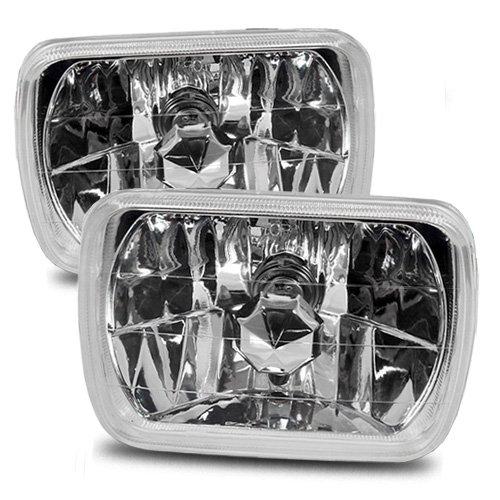 ModifyStreet 7x6 H6014/H6052/H6054 Chrome Crystal Headlights Lamps Conversion