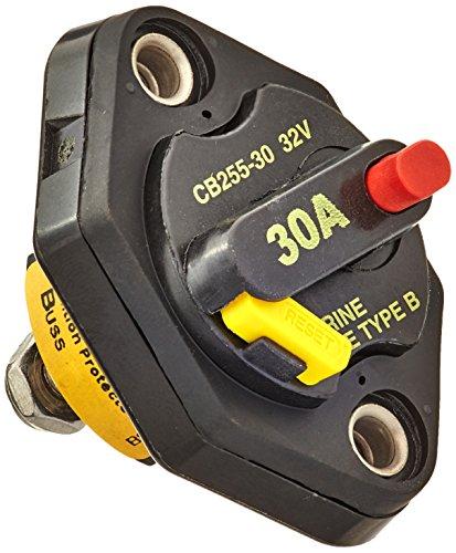 (Bussmann CB255-30 Weatherproof Marine Rated High Amp Type III Panel Mount Circuit Breaker (25 Amp), 1 Pack)