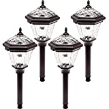 Westinghouse Adonia Stainless Steel Solar Path Lights 4 Pack (Remington Bronze)