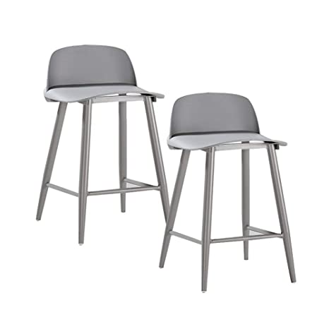 Swell Amazon Com Qqxx Aglzwy Set Of 2 Bar Stools Metal Industrial Unemploymentrelief Wooden Chair Designs For Living Room Unemploymentrelieforg