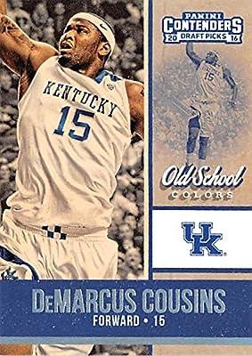 DeMarcus Cousins basketball card (University of Kentucky Wildcats) 2016 Contenders Draft Picks #7 Old School Colors