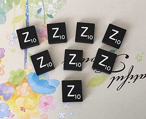 TEN Black  Scrabble Tiles Letters Letter T 10 A to Z in Stock! Individual