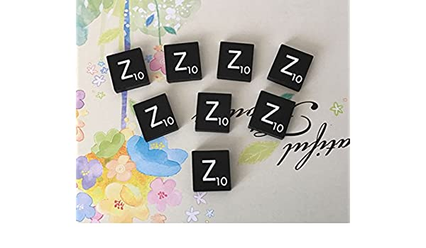 A to Z in Stock! Black  Scrabble Tiles Letters TEN 10 Letter W Individual