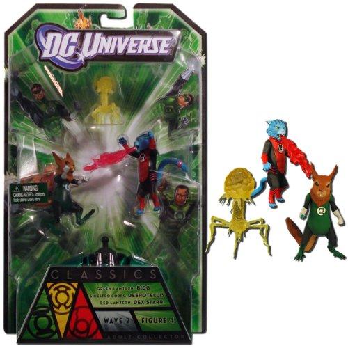 Green Lantern Classics Lantern Animals B'dg, Dex-Starr, and Despotellis Collectible Figures (Starr Green)