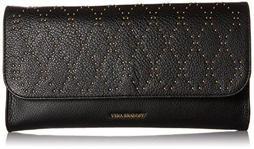 Vera Bradley Micro-Stud Harper Envelope Clutch, Black/Gold Tone, One Size by Vera Bradley
