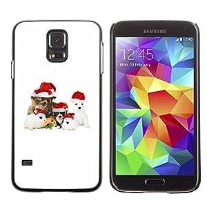 YOYO Slim PC / Aluminium Case Cover Armor Shell Portection //Christmas Holiday Cute Holiday Dog Puppy 1180 //Samsung Galaxy S5