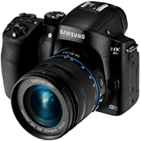Samsung NX30 20.3MP CMOS Smart WiFi & NFC Mirrorless Digital Camera with 18-55mm Lens and 3' AMOLED Touch Screen and EVF (Black)