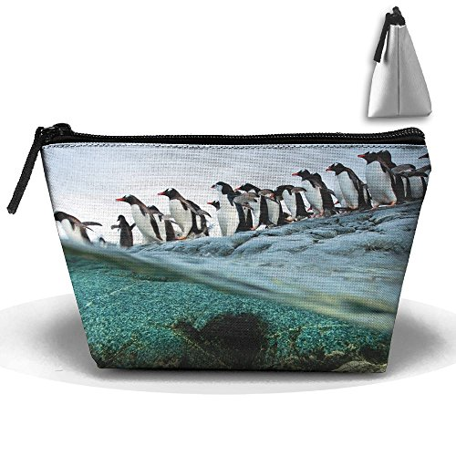 Travel Cosmetic Bags Penguins Swimming Small Makeup Bag Multifunction Pouch Cosmetic Handbag Toiletries Organizer Bag for Women Girl ()