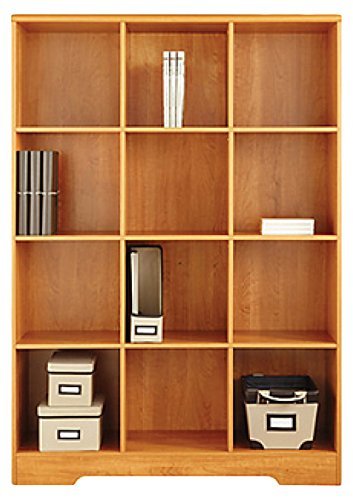 American Furniture Classics Large 12 Cube Storage Organizing Bookcase,  Honey Maple