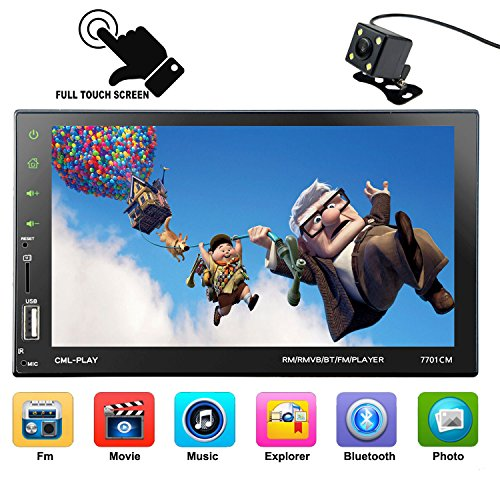 CARED 7inch Car MP5 player,Touch screen,Universal double din,Car stereo receiver,Digital LCD Monitor,Rear View Camera,Bluetooth/MP3/USB/SD,Wireless Remote