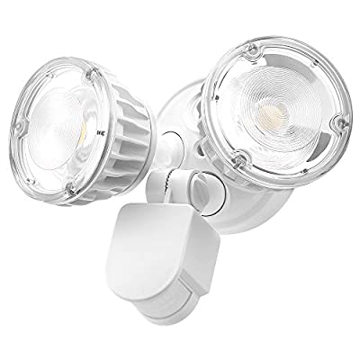 Brizled 30W LED Security Motion Sensor Light, 5000K Daylight White Bright Ourdoor Floodlights with ETL Listed Lighting for Yard, Porch, Garden and Garage, 1 Pack