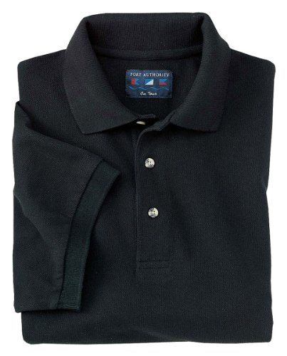 Port Authority Men's Big And Tall Knit Polo Shirt_Black_3XL Tall