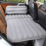STAZSX Can sit reclining car inflatable bed car bed car travel bed car bed suv rear seat mattress, flocking gray-135x78CM