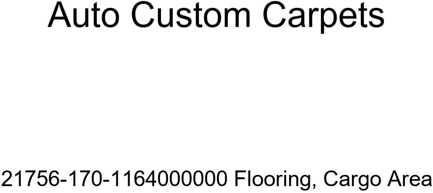 Cargo Area Auto Custom Carpets 21756-170-1164000000 Flooring