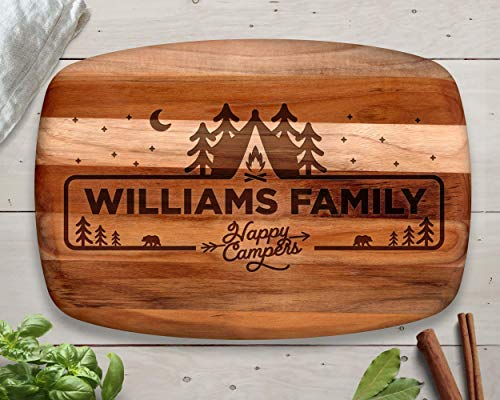 Personalized Happy Campers Cutting Board