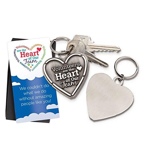 Volunteer Appreciation 5 pc. Heart Key Tag Gift Set -