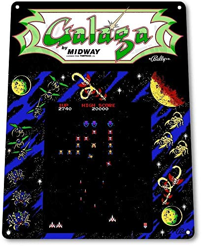 Chawuux TIN Sign Galaga Arcade Shop Game Room Art Marquee for sale  Delivered anywhere in Canada