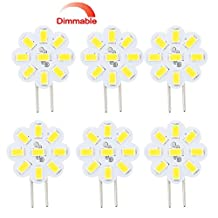 Best to Buy® (6-PACK) Dimmable 2.4Watt T4 GY6.35 DISC puck LED 9SMD 5730LED, Warm White (Jc10 Bi-pin 14-17W Replacement) for RV Campers, Trailers, Boats, and Under-cabinet Light ...