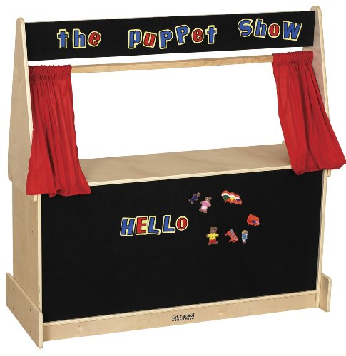 ECR4Kids Activity Birch Hardwood Play Puppet Theater with Flannel Covered Board by ECR4Kids