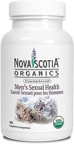 Nova Scotia Organics Energy Stamina for Men Formula 120 Caplets Organic Vegan Vegetarian Zinc Maca Goat Weed Saw Palmetto