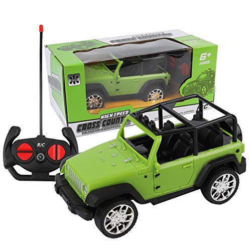 weijij Christmas Easy to Control Remote Controlled Jeep Car Radio Control Toys Car for Kids Learning Develop Boys Children Gift Cheap Clearance (Green)