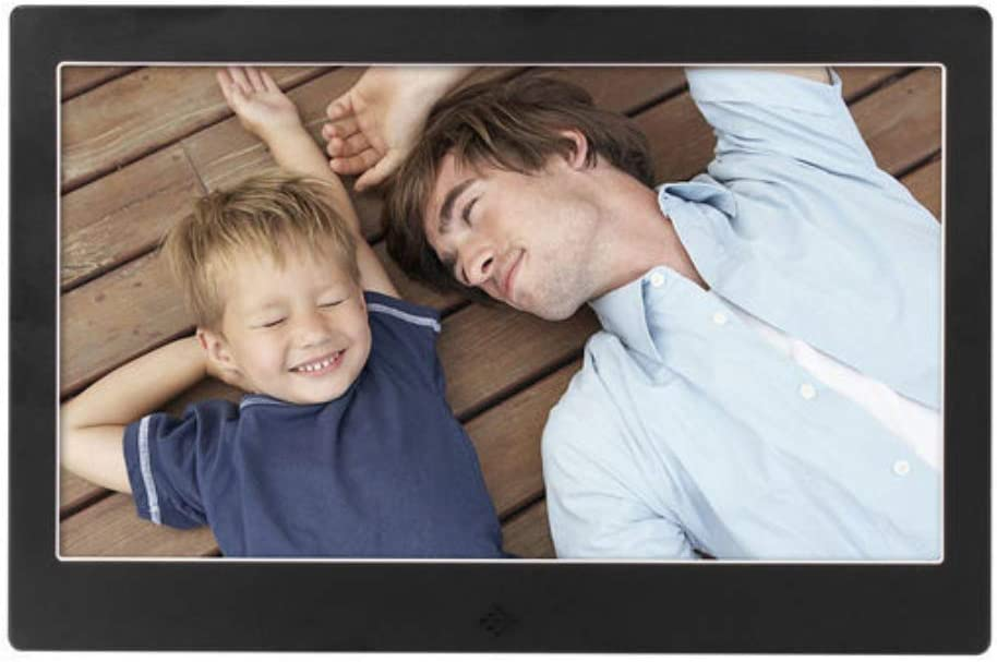 Zhengpin Digital Picture Frames 10-Inch Metal Ultra-Thin Digital Photo Frame Playback Advertising Machine Support Sd Microsd Mmc Gift Choice
