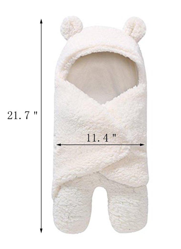 Newborn Baby Boys Girls Cute Cotton Plush Receiving Blanket Sleeping Wrap Swaddle by Pinleck (Image #3)