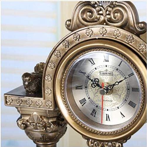 KUQIQI 時計ヨーロッパのクリエイティブアート時計ブランドの動きファッションレトロな振り子時計ベル (Color : Bronze)