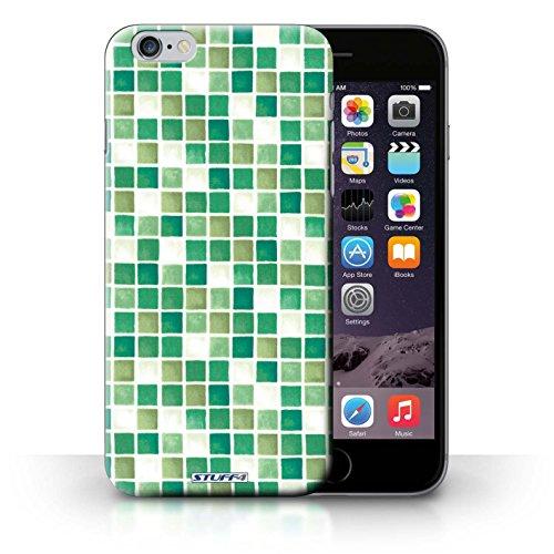 Hülle Case für iPhone 6+/Plus 5.5 / Grün/Weiß Entwurf / Bad Fliesen Collection