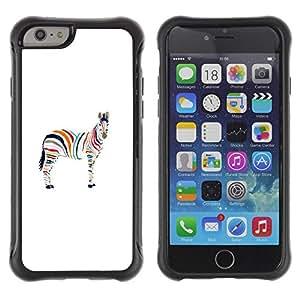 Suave TPU Caso Carcasa de Caucho Funda para Apple Iphone 6 PLUS 5.5 / Minimalist Zebra Artistic Gay / STRONG