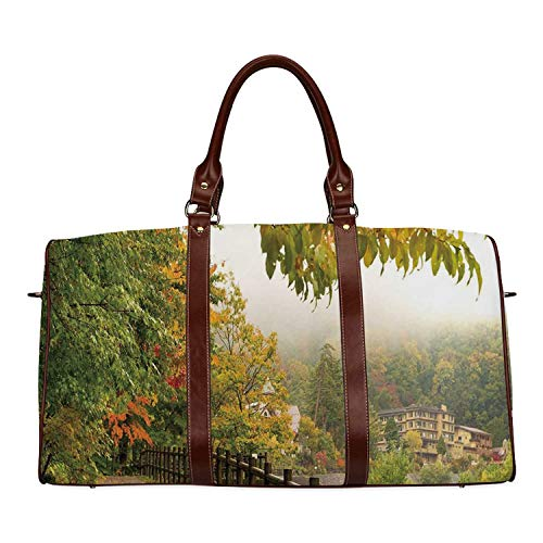 Japanese Waterproof Travel Bag,Scenic View from Nagano Prefecture Japan Autumn Season Foliage Outdoors for Travel,18.62'L x 8.5'W x 9.65'H