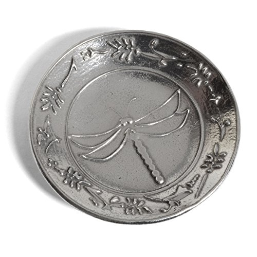 Crosby & Taylor Dragonfly 3-inch Pewter Teabag Holder Trinket Dish ()