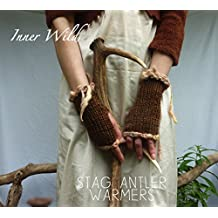 Inner Wild Stag Antler Warmers: beautiful, wild fingerless gloves easy knit pattern (Inner Wild, wilderness wear for dearhearts)
