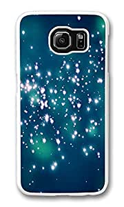 VUTTOO Rugged Samsung Galaxy S6 Case, Firefly Night Lights Hardshell Case for Samsung Galaxy S6 PC White